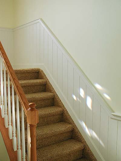 The Colors Are Subtle And Bright, With A Delicate White On The Wainscoting  Itself And A Very Pale Yellow On The Wall.