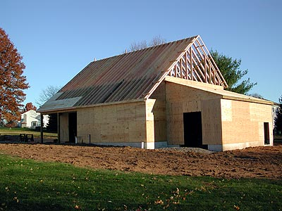 Enduring charm llc new old barn for What is roof sheathing definition